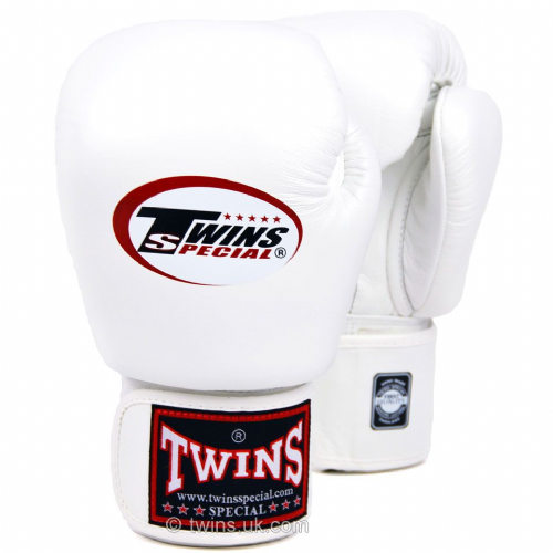 Twins Standard Boxing Gloves - White